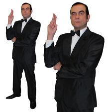 MENS BLACK SUIT BRITISH SECRET AGENT COSTUME SPECIAL DETECTIVE FANCY DRESS