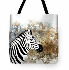 Tote bag All over print Zebra wild africa animal brown black digital art L.Dumas