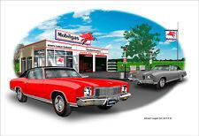 1971 Chevy Monte Carlo Vinyl Top Muscle Car Art Print - 13 color