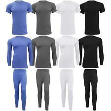 Mens Thermal Long Johns Top Bottom Underwear Set Warm Short & Long Sleeve TShirt