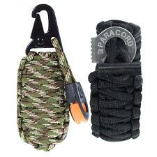 Fire Starter 14 in 1 Paracord Grenade Survival Kit Keychain or Bracelet Combo