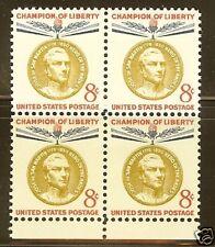 Scotts #1126  8c  JOSE DE SAN MARTIN Stamp Block, MNH
