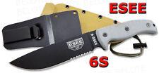 ESEE Model 6 Serrated Edge w/ Brown Molded Plastic Sheath 6S NEW