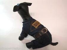 sehr warm Jeans Overall Winterjacke gefüttert Hund Jacke Mantel
