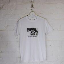 Actual Fact Biggie Tupac Redman Trust Nobody B&W White Tee T-shirt Top