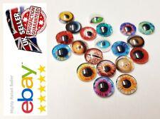 12 mm x 30PcS Animal yeux verre cabochon Flatback Charms /& Cabachons Yeux Doux