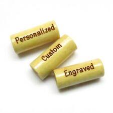 18mm x 8mm - Yellow Wood TUBE Beads - Custom Engraved - 3mm Large Hole