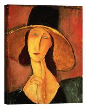 Amedeo Modigliani Jeanne Hebuterne Stampa su tela Canvas effetto dipinto