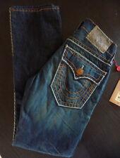 NWT True Religion Mens - Ricky Blue Brown Super T Jeans in TXD DK Hideout