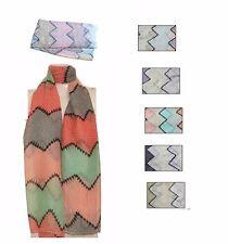 Aztec Zig Zag Stripe Print Multi Colour Soft Viscose Pashmina Scarf Wrap/Shawl