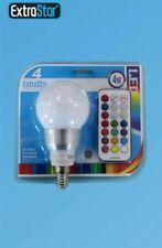 E14 LAMPADA LAMPADINA LED LUCE RGB 4W CON TELECOMANDO MULTICOLORE