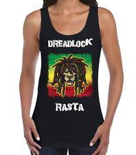 Dreadlock Rasta Reggae Women's Vest Tank Top - Bob Marley T-Shirt