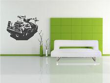 RETRO DELOREAN  CAR  - WALL ART STICKERS - BACK TO THE FUTURE