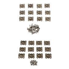 12x Antique Mini Metal Hinges Jewellery Box Dolls House Hinges With Screws