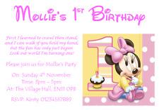 Carta personalizzata Festa Inviti Inviti Baby Mickey Minnie Mouse 1ST