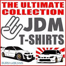 JDM t-shirt collection turbo drift EVO GTR RX7 S2000 honda mazda subaru STi etc