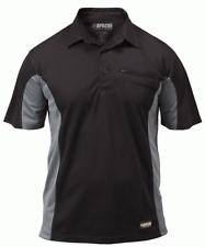 New Apache Dry Max Polo Shirt Black moisture Wicking Workwear T-Shirt