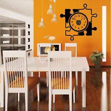 Sticker mural Horloge géante PUZZLE avec mécanisme aiguilles