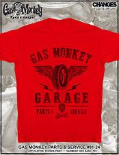 Gas Monkey Garage Parts & Service Fast N Loud American TV Dallas Red Shirt 91-24