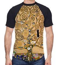 Gustav Klimt The Tree of Life Men's All Over Baseball T Shirt - Nature Artwork