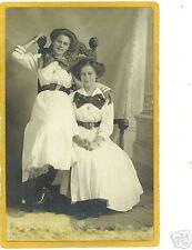 Studio Real Photo Postcard Affectionate Women Lesbian