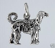 Pendentif  LEVRIER AFGHAN -3D- Pendant AFGHAN HOUND DOG