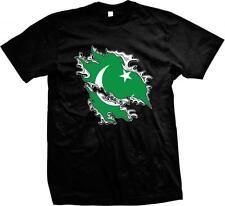 Islamic Republic of Pakistan Shred Flag Love Pakistani Pride Mens T-shirt
