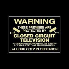CCTV Photoluminescent plastica segno / Adesivo, tutte le taglie, sicurezza, Fotocamera (MISC4)