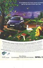 """PUBLICITE ADVERTISING  1999  OPEL ZAFIRA le"""" monospace caché dans une voiture """""""