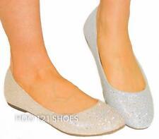 LOVE IT! Rhinestone Sparkle Glitter Comfy Round Toe Ballet Flats
