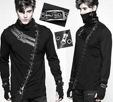 Haut t-shirt veste gothique punk bondage zip masque mitaine sangle PunkRave homm