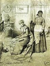 BLACK AMERICANA VALENTINE'S DAY 1884 Art Print Matted