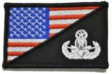 EOD MASTER Explosive Ordnance Disposal USA Flag - 2.25x3.5 Patch