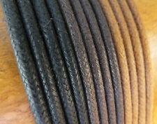 3mm COTONE CERATO lacci stringhe - 75cm to 200cm - Nera, Marrone scarpa stivale