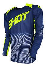 Tiro Adulto Mx Jersey Aerolite Optica Motocross Blue/Neon Amarillo Husqvarna