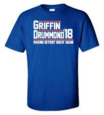 """Blake Griffin Detroit Pistons """"Griffin Drummond 18"""" T-Shirt"""