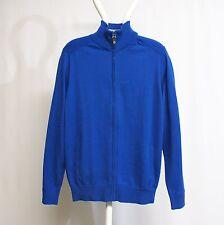 Ben Sherman Zip Through Mod Fit Mid Royal Blue ME13189-M62 Cardigan blau Herren