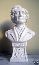 Statua Busto Berlioz in polvere di Alabastro Bianco 15 cm