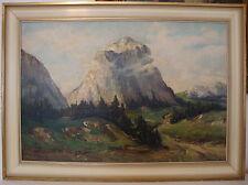 Ölgemälde Schweizer Alpen Matterhorn Karl Groß -. Sattelmair gelistet