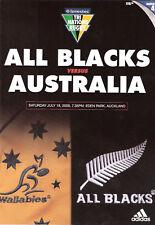NUOVA ZELANDA V Australia 2009 - 18 LUGLIO RUGBY PROG