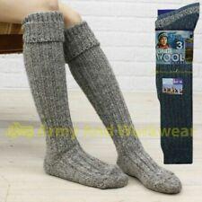Long Ladies Wool Thick Chunky Rib Thermal Knitted Boot Socks Hiking Walking Ski