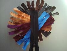 4 Pulgadas 10 Cm Lona zip con cremallera Faldas material de tela Coser artesanía Todos Los Colores