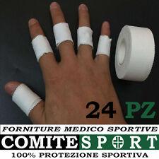 24 CEROTTI SPORTIVI TAPE TAPING / PROTEZIONE DITA  PORTIERE/VOLLEY/RUGBY/BASKET