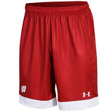 Wisconsin Badgers Under Armour rouge ample Heatgear Cordon Football Shorts