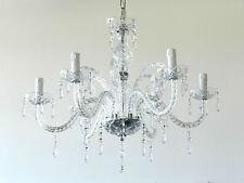 Lampadario in vetro 6 luci artigianale