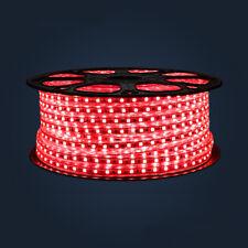 Red 220V 60Leds/m SMD5050 LED Strip Flex Tape Rope Light Outdoor Decor 1-5m