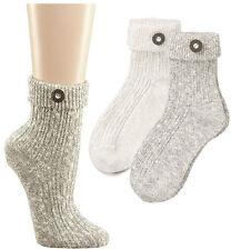 2 Paar Damen und Herren Trachten-Socken, silber-melange