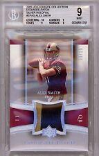 Alex Smith 05 EXQUISITE SILVER HOLOFOIL 3 COLOR PATCH ROOKIE SP /15 BGS MINT 9