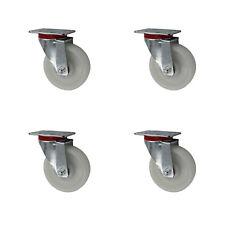 4 Stück Schwerlastrollen Transportrollen Lenkrollen 80 100 125 150 200 A1