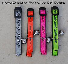 Designer Reflective Cat Collar (1 collar) by Moky - Free UK Post